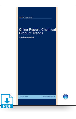 Image for China Report: 1,4 Butanediol from IHS Markit
