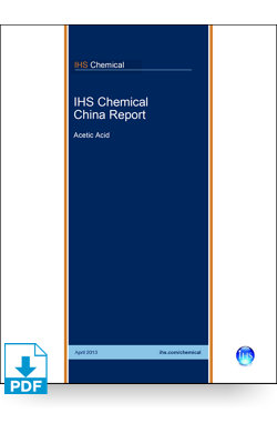 Image for China Report: Acetic Acid from IHS Markit