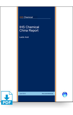 Image for China Report: Lactic Acid from IHS Markit