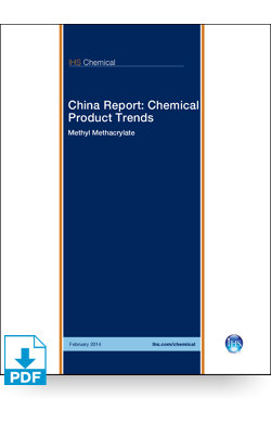 Image for China Report: Methyl Methacrylate from IHS Markit