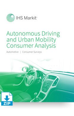 Image for Autonomous Driving and Urban Mobility Consumer Analysis from IHS Markit