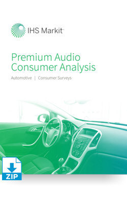 Image for Automotive Premium Audio Consumer Analysis from IHS Markit