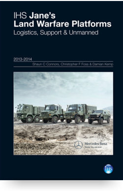 Image for Land Warfare Platforms: Logistics, Support & Unmanned Yearbook 13/14 from IHS Markit