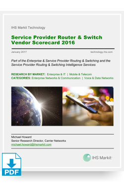 Image for Service Provider Router & Switch Vendor Scorecard 2016 from IHS Markit