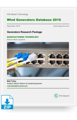 Image for Wind Generators Database 2016 from IHS Markit