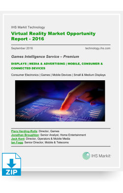 Image for Virtual Reality Market Opportunity Report 2016 from IHS Markit