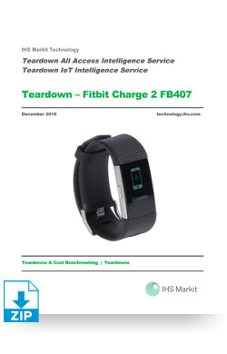Image for Teardown - Fitbit Charge 2 from IHS Markit