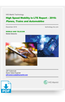 Image for High Speed Mobility in LTE Report 2016 from IHS Markit